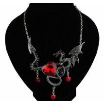 Piros szíves Trónok harca sárkány nyaklánc