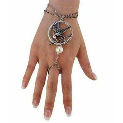 Éhezők viadala stílusú karkötő-gyűrű