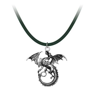 Trónok harca stílusú sárkány nyaklánc