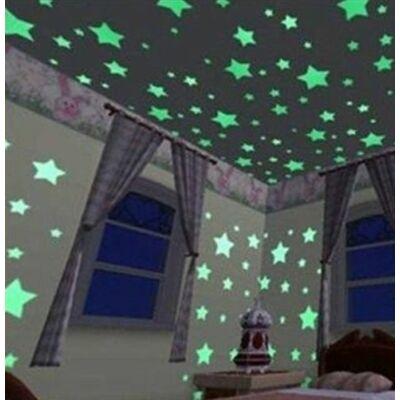 Világító csillagok matricák falra és plafonra