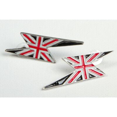 """Brit zászlós fülbevaló """"villám"""""""