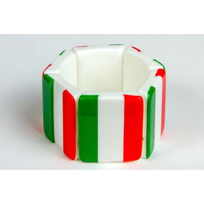 Négyzetes magyar zászlós karkötő