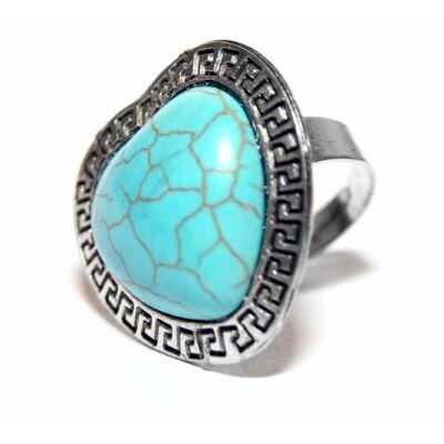Türkiz szív gyűrű
