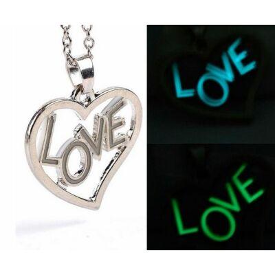 Sötétben világító LOVE nyaklánc