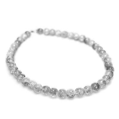 Fehér kristálygyöngyös nyaklánc