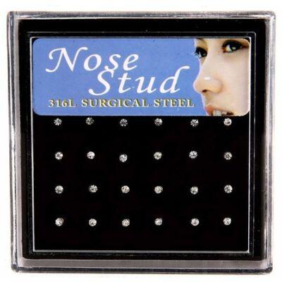 Acél orr piercingek (24 db)