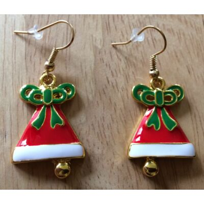 Karácsonyi csengettyűs fülbevaló