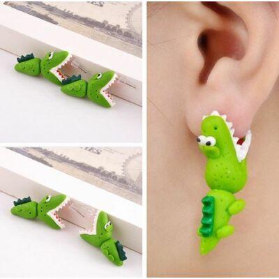 Színes krokodil fülbevaló
