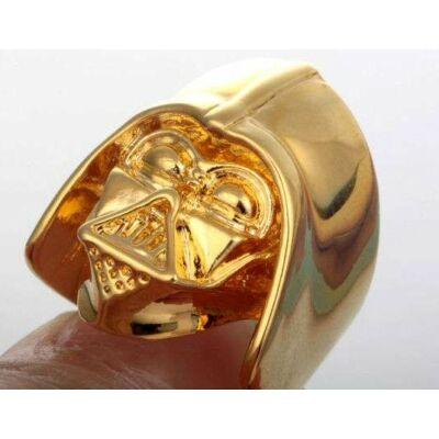 Star Wars aranyozott Darth Vader gyűrű