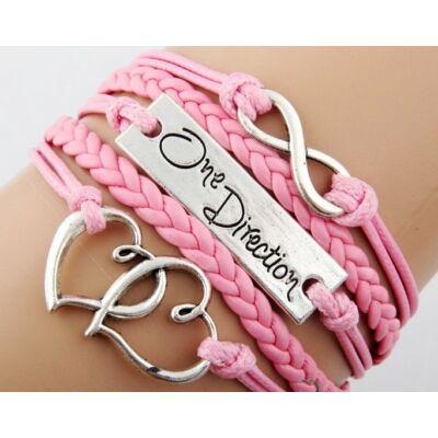 Ötsoros One Direction bőr karkötő