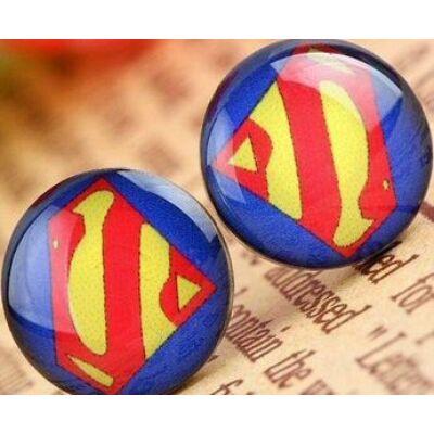 Superman logós acél fülbevaló