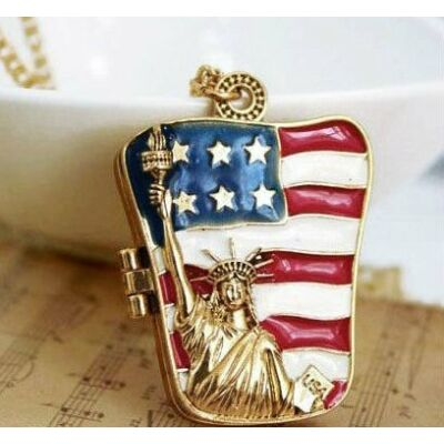 Amerikai zászlós nyaklánc & szelence