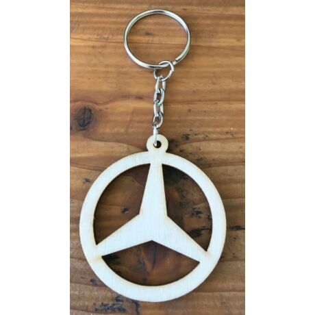 Fa Mercedes kulcstartó