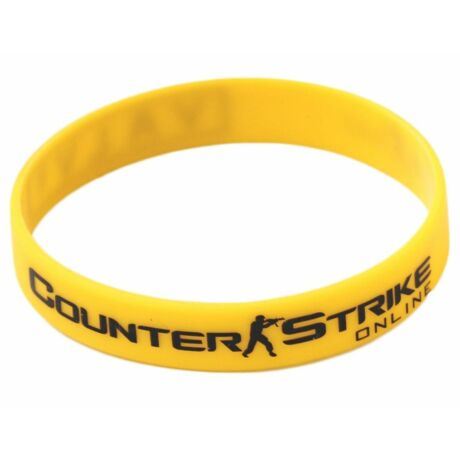 Counter Strike CS GO szilikon karkötő