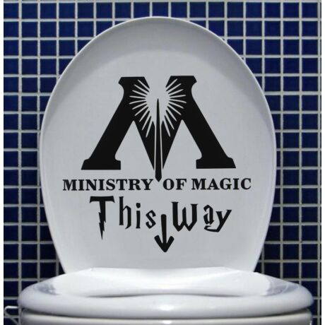 Vicces varázsló WC matrica
