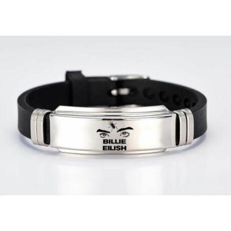 Billie Eilish szemes fekete karkötő