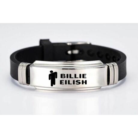 Billie Eilish logós fekete karkötő