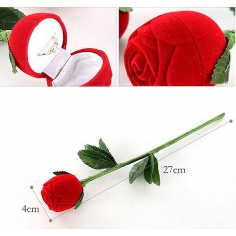 Ékszer tartós romantikus vörös rózsa