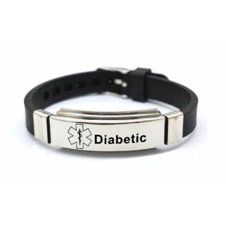 Diabétesz fekete karkötő