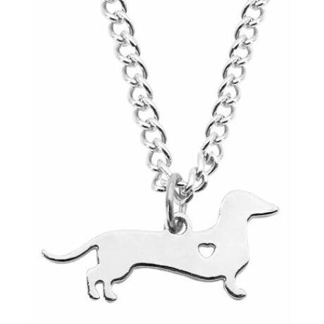 Ezüst színű tacskó nyaklánc