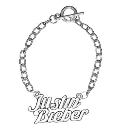 Justin Bieber OT záras ezüst színű karkötő