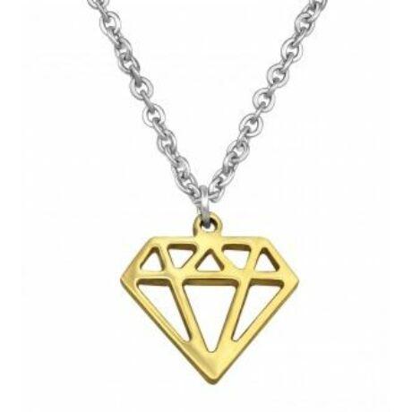 Acél gyémánt nyaklánc