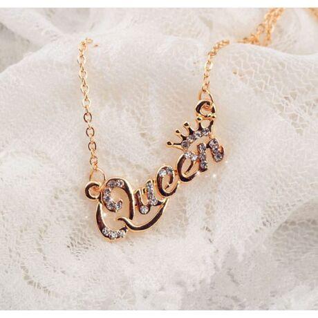 Strasszköves Queen nyaklánc