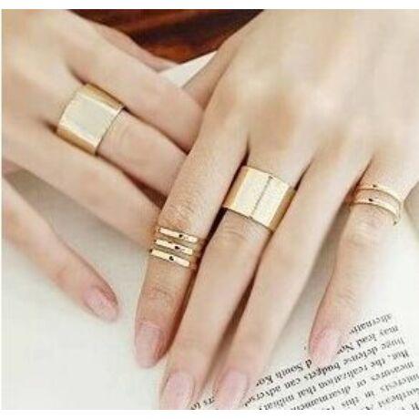 Trendi trió gyűrű