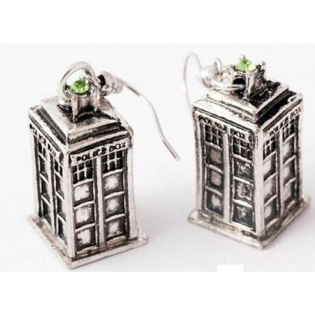 Ki vagy, doki? (Doctor Who) stílusú TARDIS fülbevaló