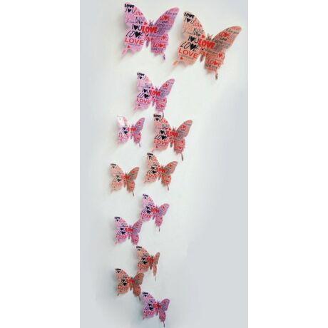 Dekorációs falmatrica pillangók