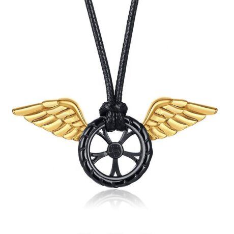 Acél szárnyas kerék nyaklánc