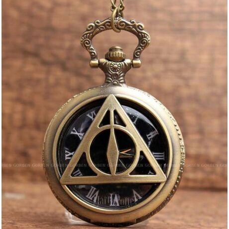 Harry Potter és a Halál ereklyéi zsebóra-nyaklánc