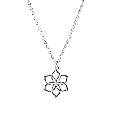 Gyűrűk Ura stílusú Galadriel hobbit virágos nyaklánc