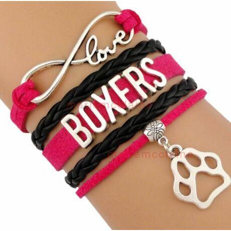 Szeretem a boxereket karkötő