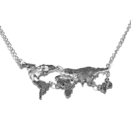 Világtérkép nyaklánc