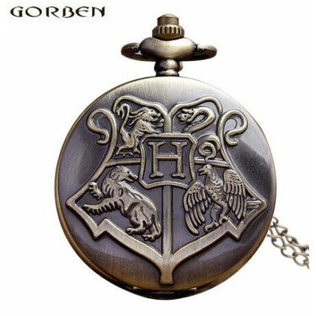 Harry Potter Hogwarts zsebóra-nyaklánc