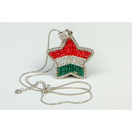 Csillagos magyar zászlós nyaklánc