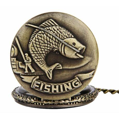 Horgász zsebóra-nyaklánc