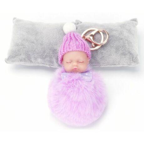 Alvó babás kulcstartó