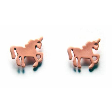 Lovacskás pink fülbevaló