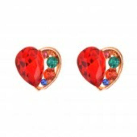 Köves szív fülbevaló