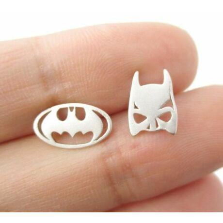 Batman logo + maszk fülbevaló