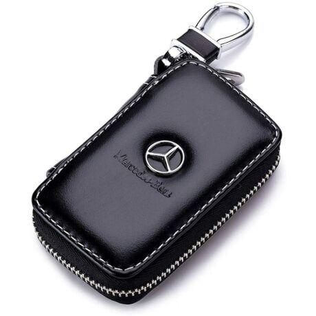 Műbőr Mercedes kulcstartó