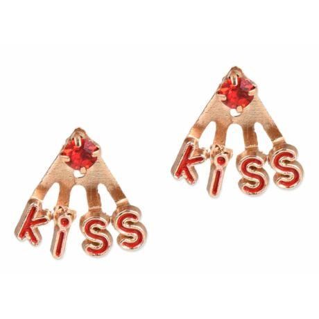 KISS feliratú fülbevaló