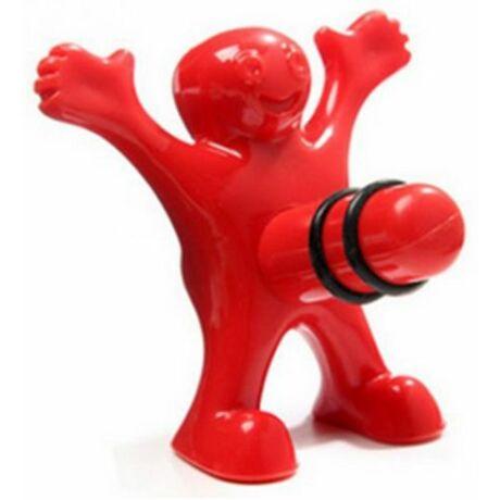 Üveg lezáró dugó kukis figura