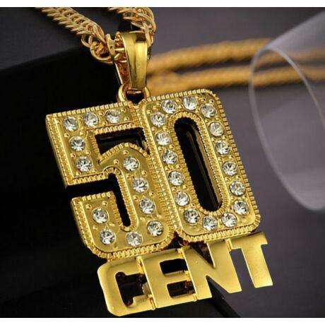 Aranyozott 50 Cent nyaklánc