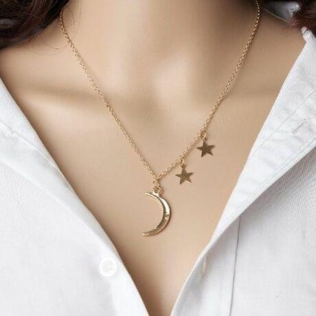 d és csillagok nyaklánc