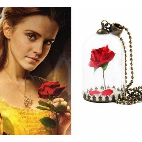 A szépség és a szörnyeteg rózsás nyaklánc