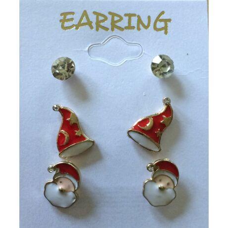 Karácsonyi fülbevaló szett (3 pár)
