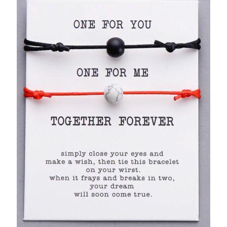 Together Forever páros karkötő